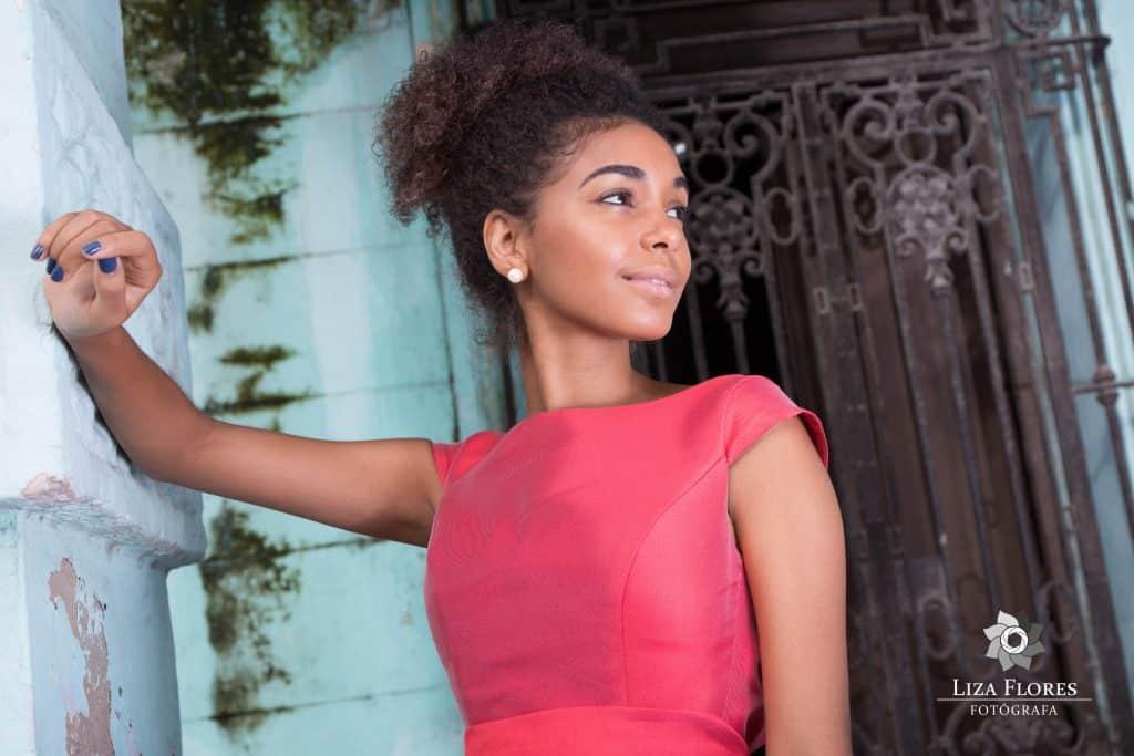 Modelo en La Habana Vieja.