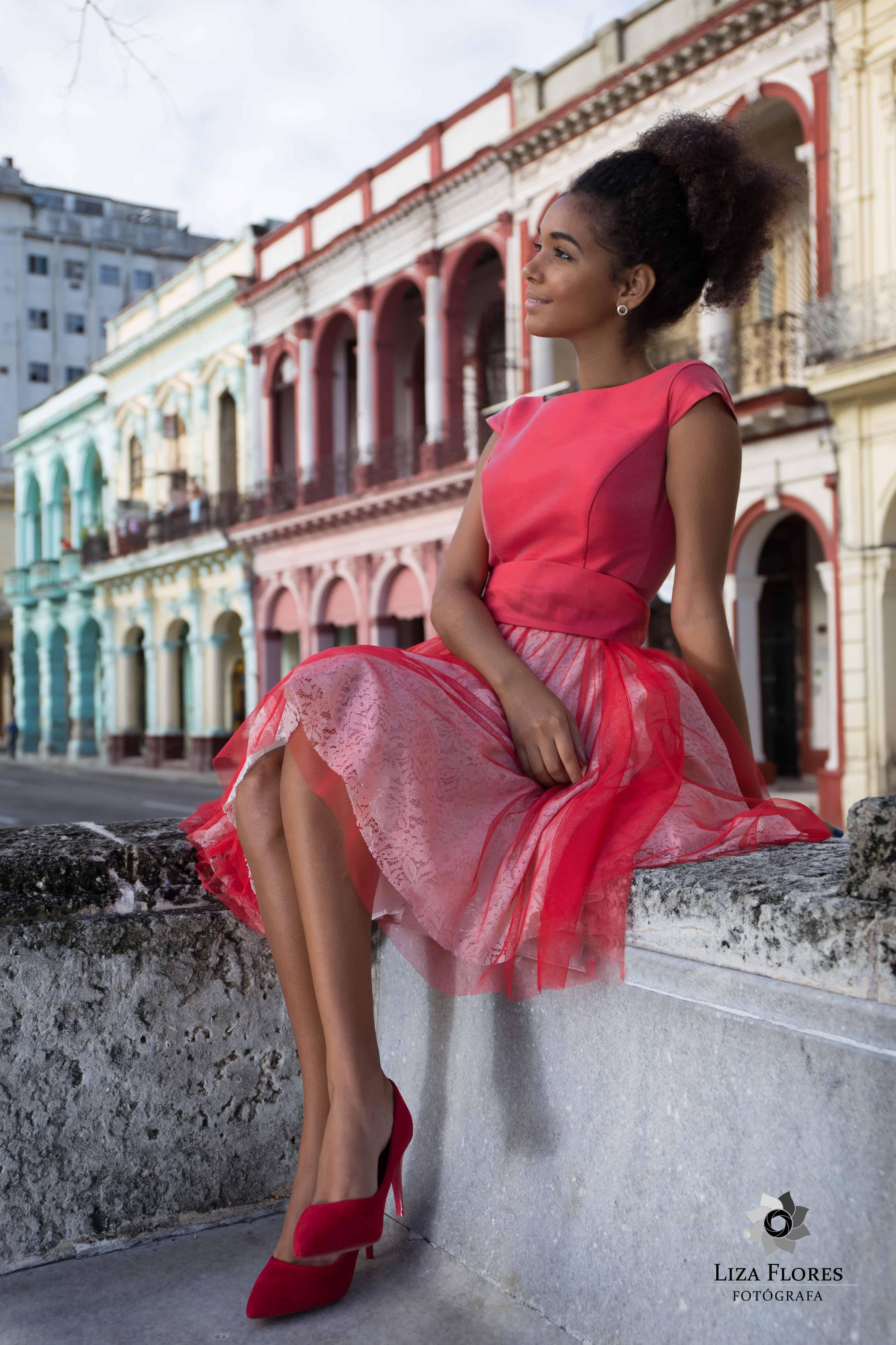 Sesión fotográfica en La Habana Vieja.